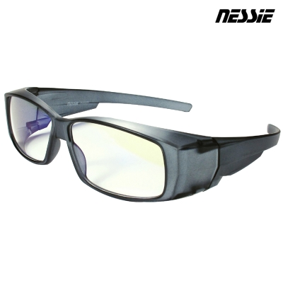 Nessie 尼斯眼鏡 濾藍光眼鏡 全罩款 透明灰
