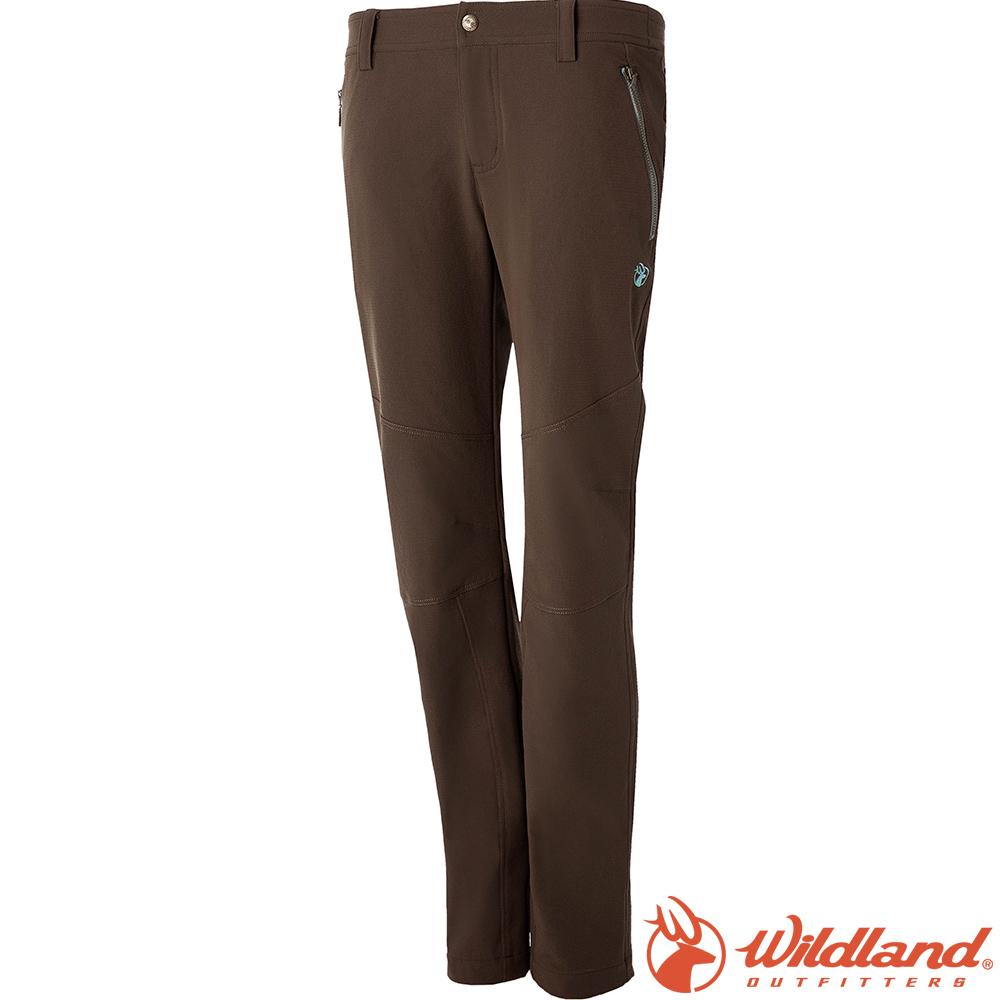 Wildland 荒野 0A52361-63深卡其 女RE彈性粗曠保暖長褲