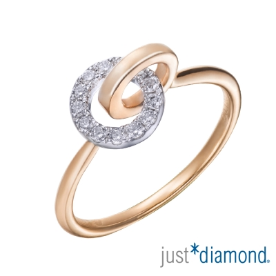 Just Diamond 圓滿系列18K雙色金鑽石戒指