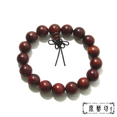 原藝坊 貓眼紫檀木手珠(直徑約12mm)