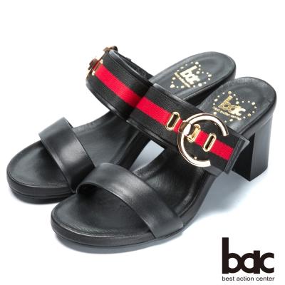 bac流行時尚 經典造型高跟涼鞋-黑
