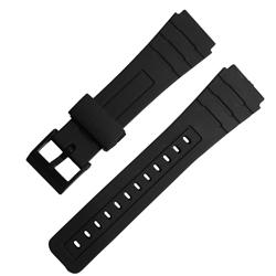 Watchband / 舒適耐用輕便運動型橡膠錶帶 黑色