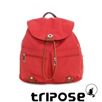 tripose MOVE系列輕休閒翻蓋機能後背包(小) 番茄紅