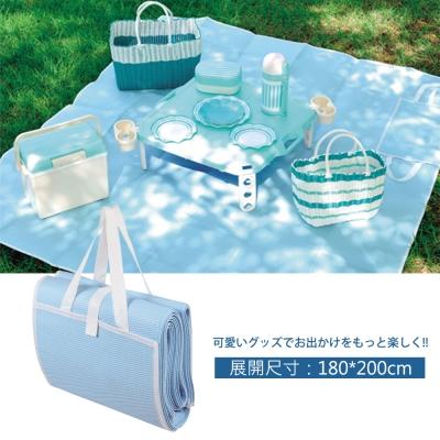 日本鹿牌Pearl CielCiel 日式野餐墊180x200cm-天空藍