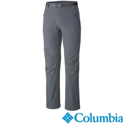 【Columbia哥倫比亞】男-鈦防潑防曬50彈性長褲-墨灰 UAM15870IG