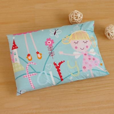 鴻宇HongYew 公主城堡綠-兒童標準乳膠枕 美國棉防蹣抗菌