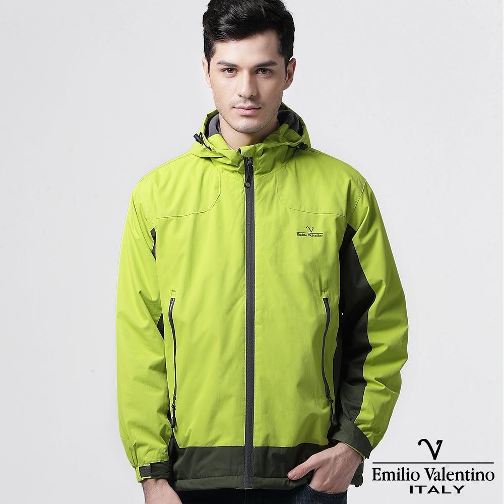 Emilio Valentino 范倫提諾防風刷毛外套-黃綠