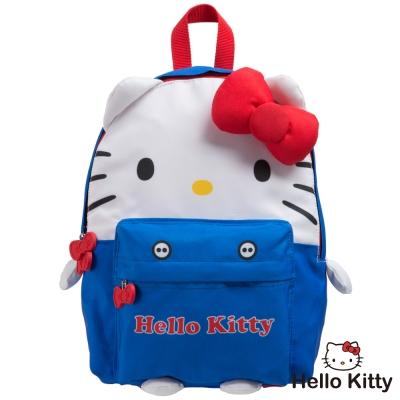 Hello Kitty KTQ版娃娃後背包-藍色KT02B01RB