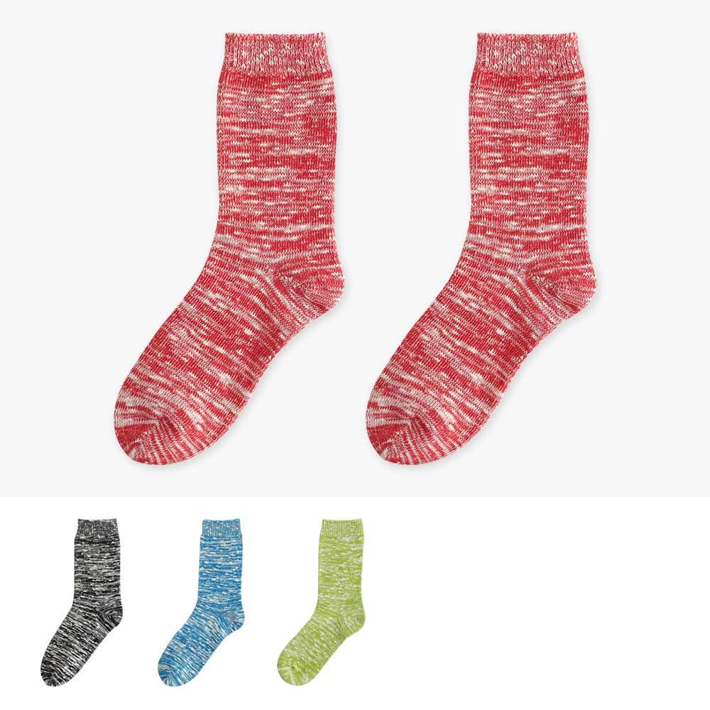 Blossom Gal 日系混麻色系針織造型短襪2入組(共6色)