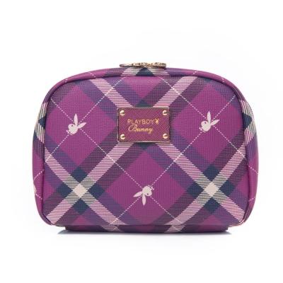 PLAYBOY- Apple 蘋果兔系列 化妝包-紫莓紅