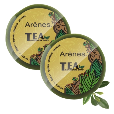 Arenes 茶多酚極潤保濕手工皂 兩入組