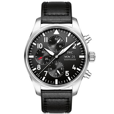 (現金分期24期) IWC萬國 飛行員計時腕錶(IW377709)-43mm