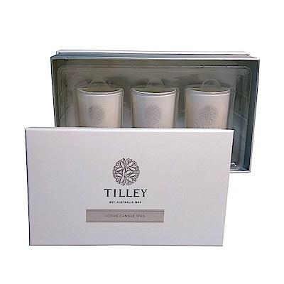 Tilley百年特莉 香氛蠟燭30gx3三入禮盒-牡丹玫瑰,薰衣草,香草