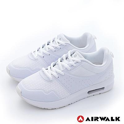 【美國 AIRWALK】透氣輕量設計慢跑鞋運動鞋-女(白)
