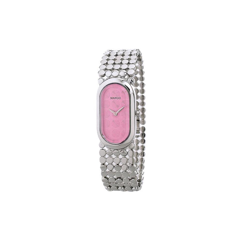 MANGO 時尚造型女腕錶(粉)