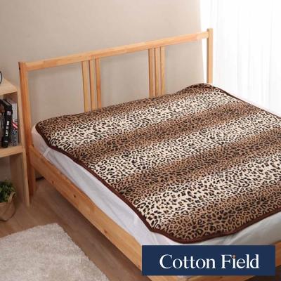 棉花田 金錢豹 超細纖維時尚印花雙人加大保暖墊