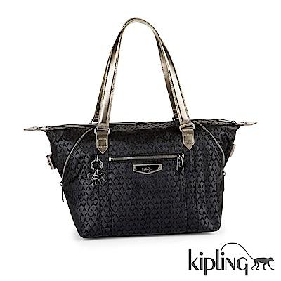 Kipling 手提包 奢華黑幾何-大