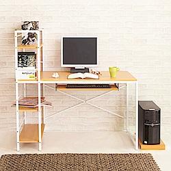 澄境 風潮鍵盤層架電腦工作書桌(120x48x120cm)+送同色主機架-DIY