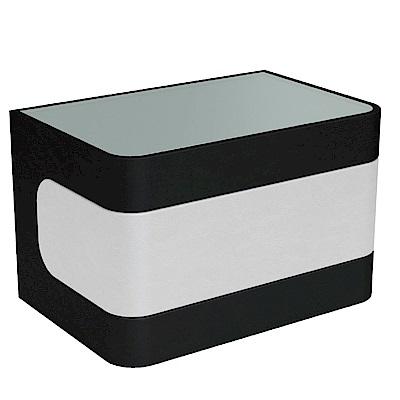 品家居 德亞2尺皮革單抽床頭櫃(二色可選)-60x40x39cm-免組