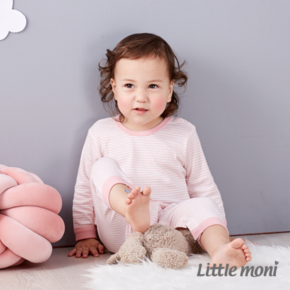Little moni 純棉家居系列條紋長袖連身裝 (共3色) product image 1