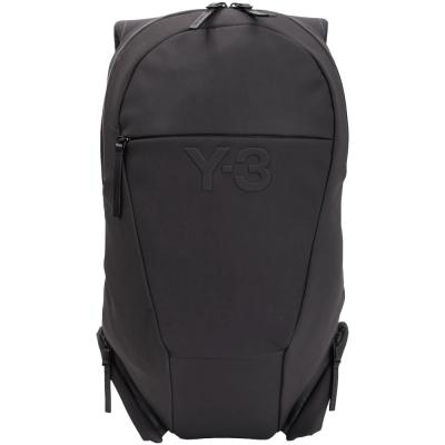Y-3 VEST 浮刻LOGO多功能尼龍後背包(黑色)