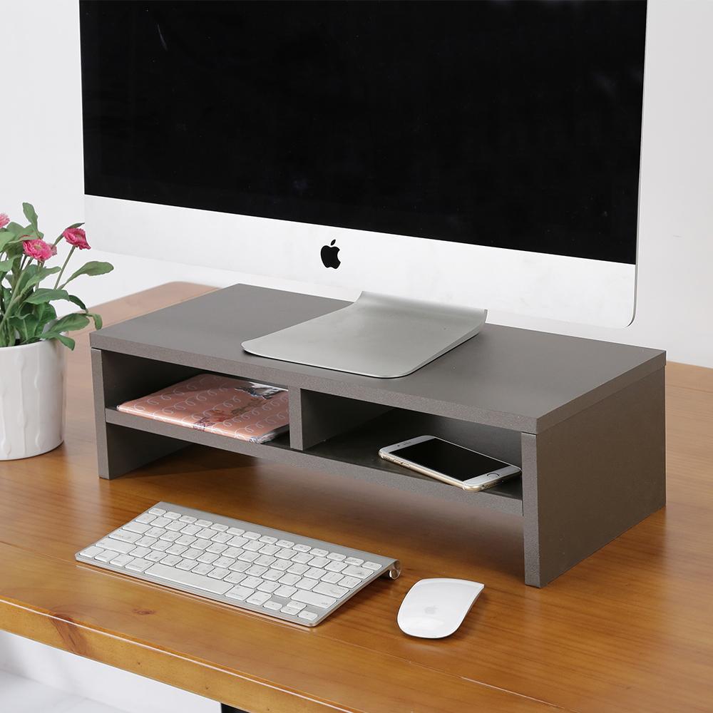 BuyJM 銀灰低甲醛防潑水雙層螢幕架/桌上架-DIY