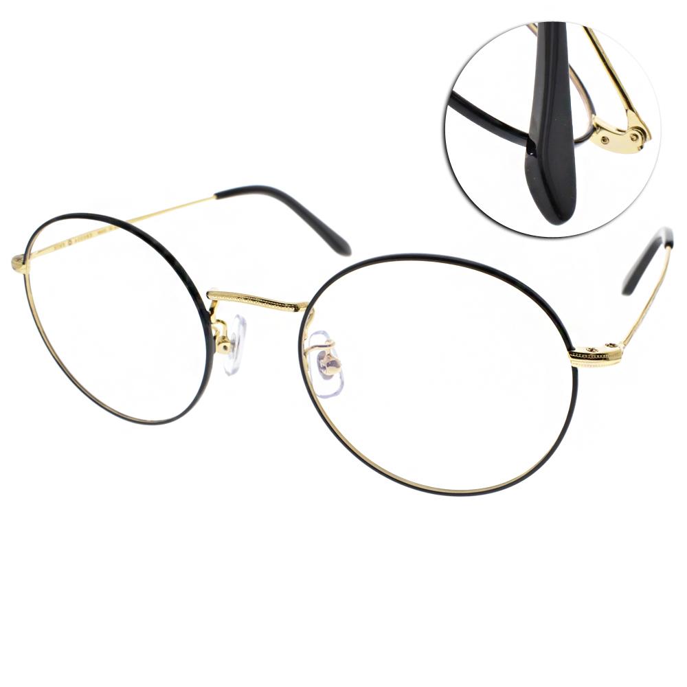 NINE ACCORD眼鏡 質感圓框/黑-金#PLACO FL2 C01