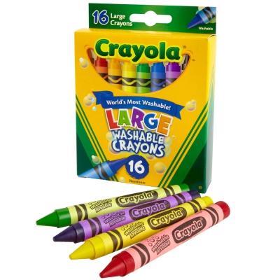 美國crayola 可水洗系列-可水洗16色大蠟筆(3Y+)