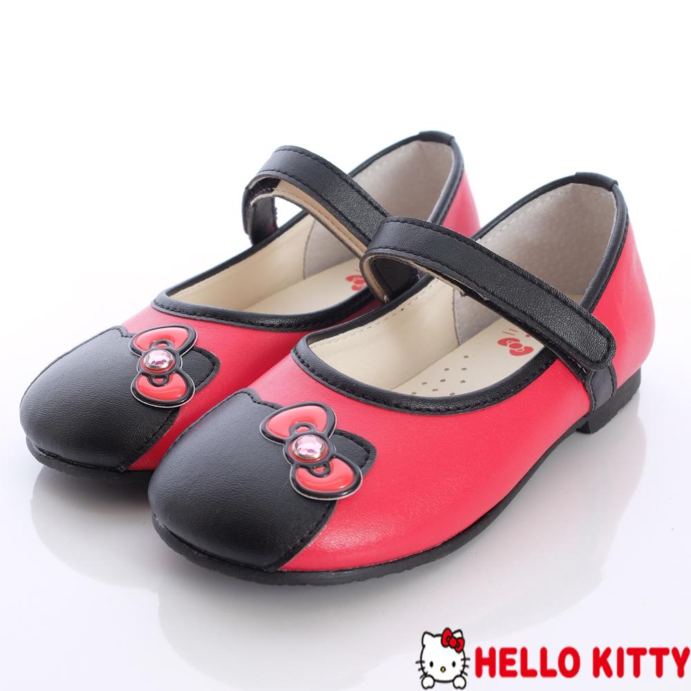 Hello Kitty精品嚴選~晶亮蝴蝶娃娃款-713586紅(中童段)