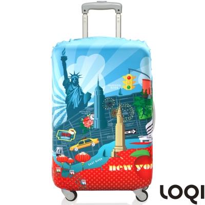 LOQI 行李箱套│紐約L號 適用28吋以上行李箱保護套