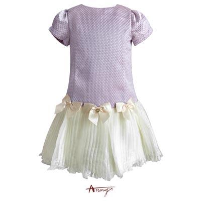 Annys高級訂製壓紋高緞蝴蝶結禮服 5205紫