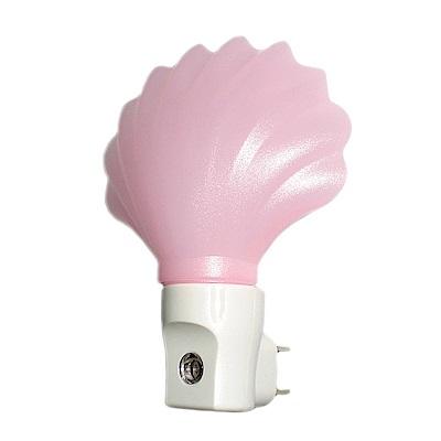朝日光電 光控感應LED黃光珍珠貝小夜燈(顏色隨機)