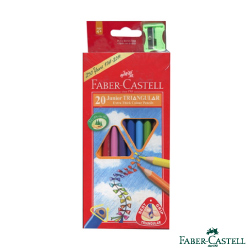 Faber-Castell紅色系大三角彩色鉛筆 3.3 mm 20色