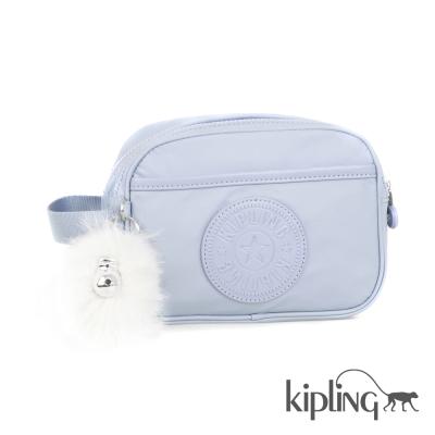 Kipling 化妝包 寧靜藍素面-小