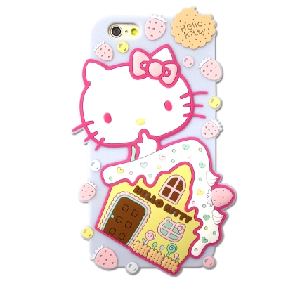 Hello Kitty iPhone 6/6s i6s 4.7吋立體軟式手機殼(...