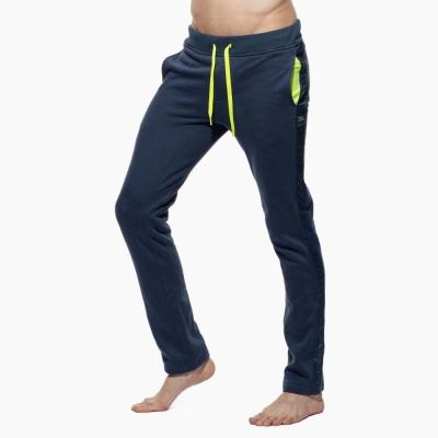 PS 特色口袋側邊線條窄版貼身長褲(海藍色)