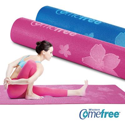 Comefree 台灣製造SGS合格-花舞瑜珈彈力墊(二色)