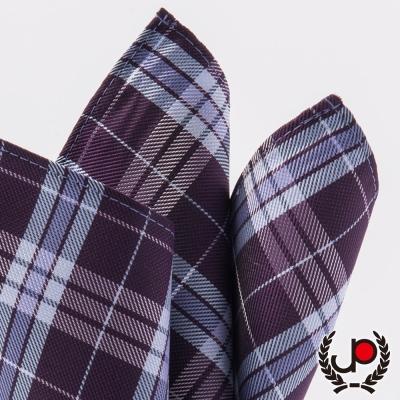 極品西服 紫/水藍提花口袋方巾(YH5006)