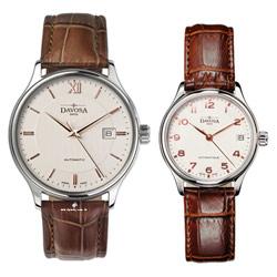 DAVOSA Classic 經典三針機械對錶-象牙白