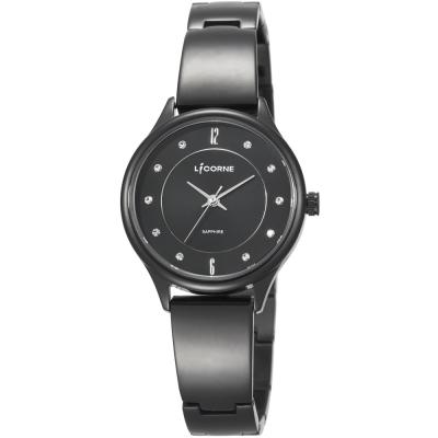 LICORNE 力抗錶 都會女伶時尚女錶-黑/31mm