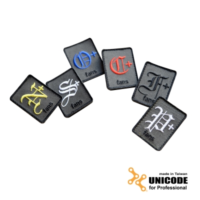 UNICODE Identify Patch Kit 血型臂章組(6片/組)