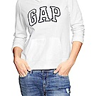 GAP 女生 長袖 帽T 白色 0470