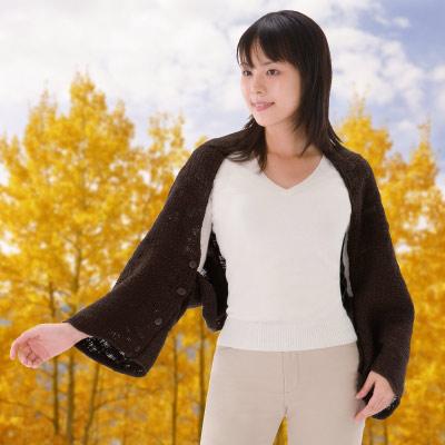 【Sunlead】四用式。日系多機能防寒罩杉/外套 (咖啡色)
