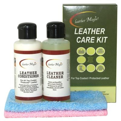 皮革魔法師-防水(真皮)皮革基礎清潔保養隨手組