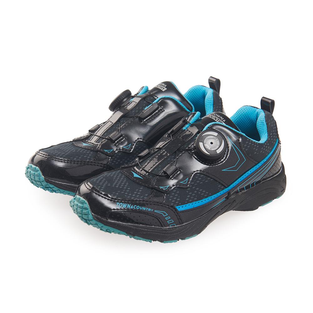 TOWN&COUNTRY 童鞋-撞色輕量運動款*黑藍