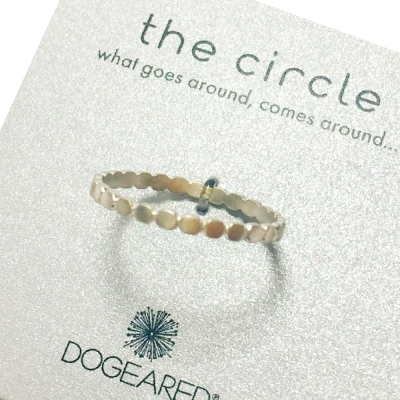 Dogeared 銀色豆豆戒指 多墜細緻單環 Thin Circle 附原廠盒