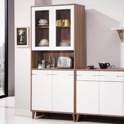 AS-海薇北歐風2.7尺展示置物櫃-80x40x182cm