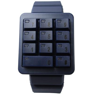 CLICK 創意爆破數字鍵盤個性腕錶-藍/40mm
