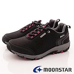 日本Moonstar戶外健走鞋-銀離子4E寬楦款-DL026黑(女段)