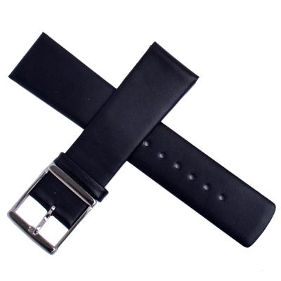 ck進口高級牛皮素面壓紋代用錶帶(黑)